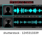 wiretap sound talks interface... | Shutterstock .eps vector #1245313339