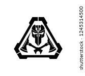 tactical survival skull logo... | Shutterstock .eps vector #1245314500