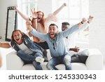 let's get a little bit crazy.... | Shutterstock . vector #1245330343