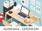 isometric vector illustration... | Shutterstock .eps vector #1245331240
