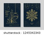 new year greeting card design... | Shutterstock .eps vector #1245342343