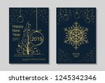 new year greeting card design... | Shutterstock .eps vector #1245342346