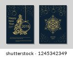 new year greeting card design... | Shutterstock .eps vector #1245342349