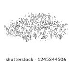 black and white line art of... | Shutterstock . vector #1245344506