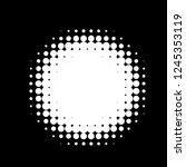 halftone circles  halftone dots ... | Shutterstock .eps vector #1245353119