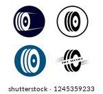 tire logo vector template...   Shutterstock .eps vector #1245359233