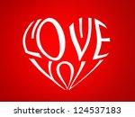 illustration of a heart made... | Shutterstock . vector #124537183