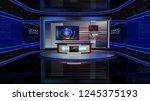 3d rendering virtual set studio ... | Shutterstock . vector #1245375193