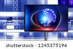 3d rendering virtual set studio ... | Shutterstock . vector #1245375196