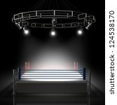 boxing ring. high resolution 3d ... | Shutterstock . vector #124538170