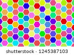honeycomb many color ... | Shutterstock . vector #1245387103