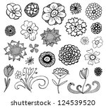 collection of hand drawn doodle ... | Shutterstock .eps vector #124539520