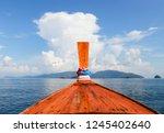 beautiful sea with rain storm...   Shutterstock . vector #1245402640