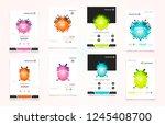 abstract vector business... | Shutterstock .eps vector #1245408700