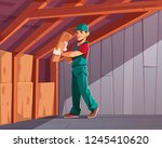 building thermal or acoustic... | Shutterstock .eps vector #1245410620