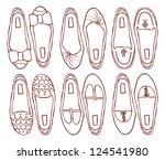 Set Of Shoes Doodle