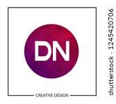initial letter dn logo template ... | Shutterstock .eps vector #1245420706