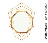 golden frame octagon isolated... | Shutterstock .eps vector #1245434350