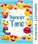 summer time poster or postcard  ...   Shutterstock .eps vector #1245436696