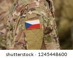 flag of czech republic on... | Shutterstock . vector #1245448600
