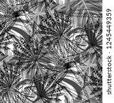 exotic plants. seamless pattern ... | Shutterstock .eps vector #1245449359