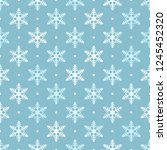 white and blue snowflakes... | Shutterstock .eps vector #1245452320