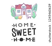 home sweet home. country house  ... | Shutterstock .eps vector #1245460639