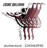 cosmic ballerina. vector hand...   Shutterstock .eps vector #1245463930