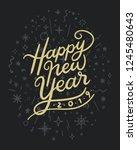 happy new year decorative... | Shutterstock .eps vector #1245480643