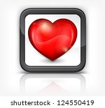 red heart in square button on... | Shutterstock .eps vector #124550419