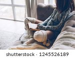 cold autumn or winter weekend... | Shutterstock . vector #1245526189