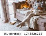 cold autumn or winter weekend... | Shutterstock . vector #1245526213