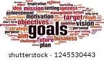 goals word cloud concept....   Shutterstock .eps vector #1245530443