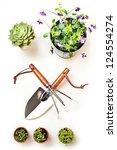 gardening tools - stock photo