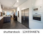 interior of modern kitchen with ... | Shutterstock . vector #1245544876