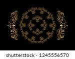 black and gold oriental pattern ... | Shutterstock .eps vector #1245556570
