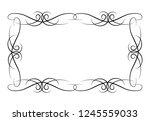 decorative vintage horizontal... | Shutterstock . vector #1245559033
