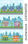 set of three illustrations of... | Shutterstock . vector #1245560920