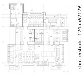 standard furniture symbols used ...   Shutterstock .eps vector #1245562129