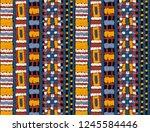 tribal vector ornament....   Shutterstock .eps vector #1245584446