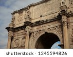 portion of triumphal arch in... | Shutterstock . vector #1245594826