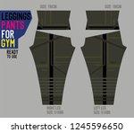 leggings pants for gym | Shutterstock .eps vector #1245596650
