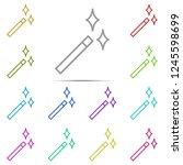 magic wand icon in multi color. ...