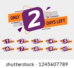 promotional banner with number... | Shutterstock .eps vector #1245607789