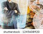 modern way of exchange. bitcoin ... | Shutterstock . vector #1245608920