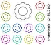 gear icon in multi color....