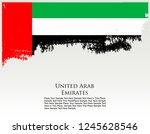 uae united arab emirates... | Shutterstock .eps vector #1245628546