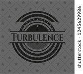 turbulence dark icon or emblem | Shutterstock .eps vector #1245629986