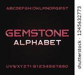 gemstone alphabet font. shiny...   Shutterstock .eps vector #1245632773