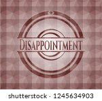 disappointment red badge with... | Shutterstock .eps vector #1245634903
